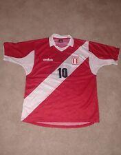 2004/2005 Walon Peru Soccer Jersey #10 Red Men's Medium/Large
