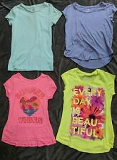 LOT of 4 girls super soft t shirts L 10/12 Hanes Justice SO Cherokee