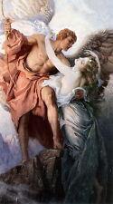 8x10 Art Print Mythology Roman Greek God Mercury & Goddess Venus Day & Dawn Star