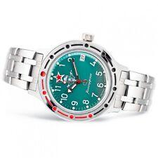 Authentic Vostok Auto Amphibian (#420307 Paratrooper) Military Diver Wrist Watch