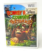 Donkey Kong Country Returns Complete Tested (Nintendo Wii, 2010) W/ Case Manual