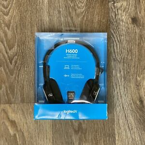 New Sealed Logitech - H600 Black Wireless Headset For Computers