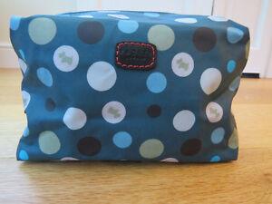 Radley Dog Spot Oilskin Make-Up Bag Available In Teal or Dark Brown LOVELY!!