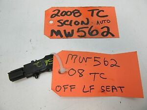 05-10 SCION TC LEFT FRONT SEAT SENSOR BELT BUCKLE DRIVER LF LH L UNDER SEAT OEM
