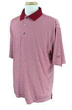 FootJoy Golf Men's ProDry Lisle Cascades GC Polo Shirt Red Stripe Size L