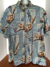 Clearwater Outfitters Men's Size 2XL Short Sleeve Button Front Shirt Baseball