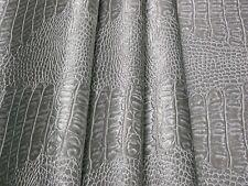 Tessuto Ecopelle Tappezzeria Coccodrillo Argento mt. 0.50x1.40-Leather Fabric