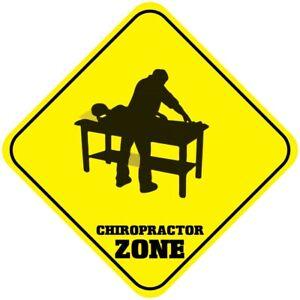 Yellow Aluminum Crossing Sign Chiropractor Zone Cross Xing Diamond Street Signal