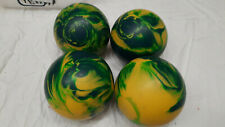 Yellow Green Cosmic Swirl Candlepin Balls 4 Lot