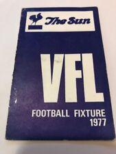 RARE 1977 VFL AFL FIXTURE THE SUN - Good CONDITION