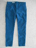 AG Adriano Goldschmied The Stevie Ankle slim straight polka dot Pant Size 27 R