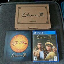 Shenmue 3 (Sony PlayStation 4, 2019) Fangamer Kickstarter edition, New