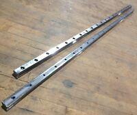 "2 Lot Rexroth 15Q02 Linear Bearing Rail Guide 7873 Metal 66"" x 1-1/8"" x 1"" Used"