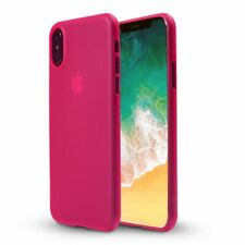 iPhone X Flexi Slim TPU Gel Cover Case Protection in Pink by Orzly