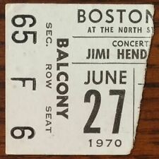 Jimi Hendrix-1970 Rare Original Concert Ticket Stub (Boston Garden)