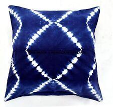 26*26 Indian Tie Dye Shibori Indigo Blue Square Cushion Cover Pillow Case Throw