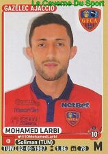 014 MOHAMED LARBI # TUNISIA GFC.AJACCIO ES Sahel ROOKIE STICKER PANINI FOOT 2016