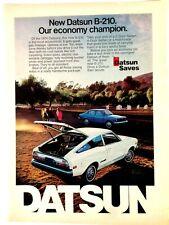 1974 Datsun B-210 Vintage Print Ad Automobile
