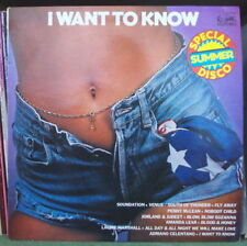 """A SPECIAL SUMMER DISCO ALBUM """"I WANT TO KNOW"""" SEXY COVER FRENCH LP EURODISC"""