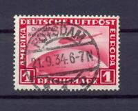 DR 496 Zeppelin Chicagofahrt 1 RM gestempelt geprüft A Schlegel (ts123)