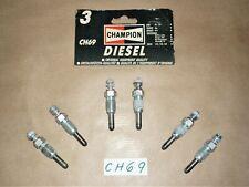 6 x CHAMPION DIESEL HEATER GLOW PLUG CH69 VOLVO 240 244 264 740 760 2.4D 2.4TD