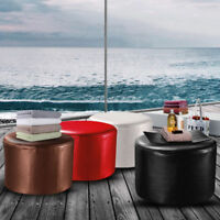 PU Leather Ottoman Round Footstool Living Room Bedroom Chair Children Baby Stool