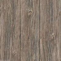 Papel pintado Muriva - DE LUJO granulado REALISTA Old Panel madera - Marrón -