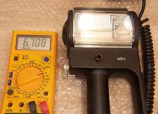 Braun Professional Blitz F 900 / F 910 Triggerspannung 6,8 V / VC 1. Generation