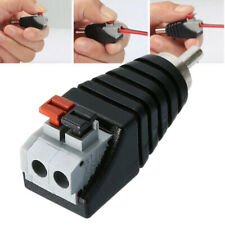 Speaker Wire Cable Lead to Audio Male RCA Connector Adapter Converter Jack Plug