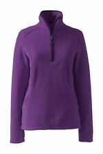 Lands End Women's Everyday Fleece Half-zip Classic Grape Royale  New