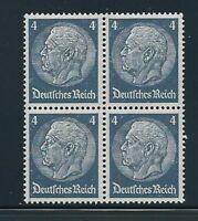 MNH Stamp block / President Hindenburg 1930s, PF04, Original Third Reich Block