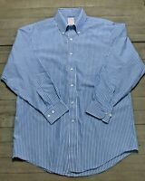 BROOKS BROTHERS 346 MEN SIZE 15.5-2/3   BLUE BUTTON UP LONG SLEEVE SHIRT