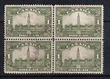 Canada #159 Very Fine Used Block With 1929 Purple Oval Cancel