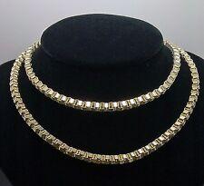 "Yellow Gold Mens' Byzantine Chain 32"" Long 19.3gm Italian, Rope, Franco,Cuben"