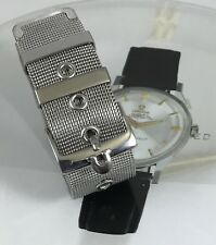 OMEGA 18mm Stainless Steel Logo Buckle 18mm Generic MESH METAL STRAP 1960s Style