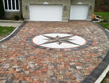 "5 Thick 12x12x3"" Cement Driveway Paver Molds Make Opus Romano Pavers, Fast Ship"