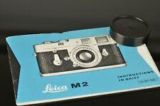 Leica M2 Instruction Book English + Lens Cap f/Leica 50mm35mm Summicron Summaron