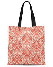 S4Sassy Floral  Canvas Large Tote Bag for Beach Shopping Groceries Books-FL-47G