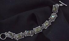 Labradorite Bracelet Sterling Silver Link