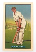 .c1938 SCARCE DON BRADMAN CARD. HOADLEY'S TEST CRICKETERS