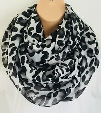 Striking Leopard Print Oversized Circle Loop Infinity Scarf Snood New