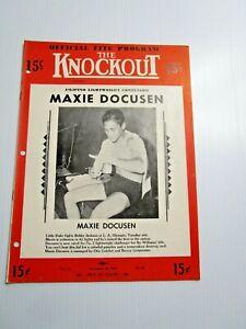 The Knockout Official Boxing Program Maxie Docusen vs Bobby Jackson Olympic 1948