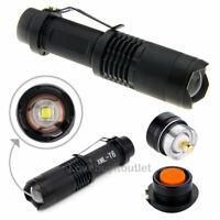 Super LED Adjustable Flashlight Torch Focus Zoom Cree XML-T6 Waterproof  5 Modes