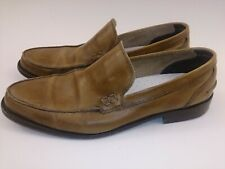 Otisopse Leather Moccasin Loafers Slip On Shoes Vero Cuoio Italy - Size 12   45