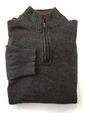 Emanuel Ungaro Men Dark Grey Half Zip Sweater XL Wool