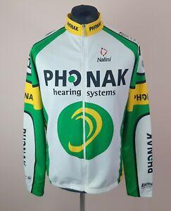 Nalini Phonak Long Sleeve Cycling Jersey Men's Size 2XL BMC Full Zip Bike Shirt