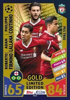 Match Attax 2017/18 PES3 gold FC Liverpool limited Edition Champions League 2018