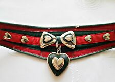 VINTAGE RED GREEN TYROL DIRNDL OKTOBERFEST HEART APPLICATIONS WOMEN'S BELT