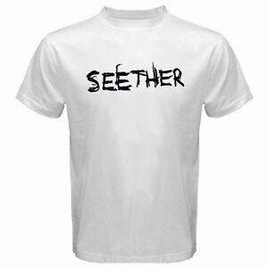 SEETHER Men's White T-Shirt Size S M L XL 2XL 3XL