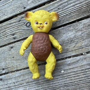 Rare Vintage 1950s Viceroy Rubber Bear Sun Rubber Company Sunny Bear Yellow